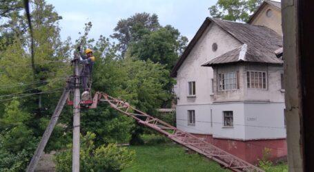 Зламана гілка тополі залишила без світла цілий квартал в центрі Кам'янського