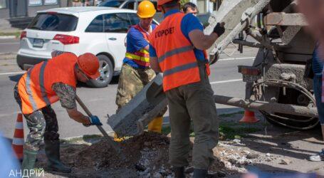В Каменском на перекрестке проспектов Тараса Шевченко и Аношкина устанавливают светофоры