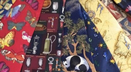 Виставка краваток в центральній бібліотеці Кам'янського