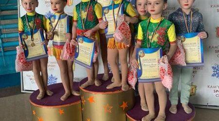 Юные грации Каменского достойно выступили на соревнованиях по гимнастике