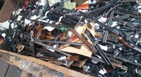 На Дніпропетровщині поліцейські переплавили зброю, вилучену з незаконного обігу
