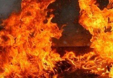 На Дніпропетровщині на пожежі постраждав чоловік