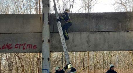 У Дніпрі дівчинка застрягла на висоті 8 метрів у покинутій будівлі