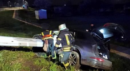 Під Кам'янським автівка злетіла в кювет