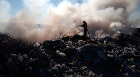 На Дніпропетровщині горіло сміттєзвалище