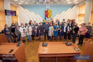 В Каменском мамы-воспитатели принимали поздравления - ФОТО