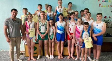 Юные гимнасты Каменского успешно выступили на Чемпионате области