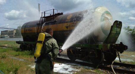 На Дніпропетровщині на залізниці стався витік сірчаної кислоти