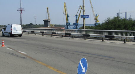 Заміна деформаційного шва почалась на мосту в Кам'янському