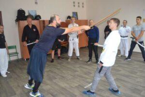 Козачому фехтуванню вчились бійці на семінарі в Кам'янському - ФОТО