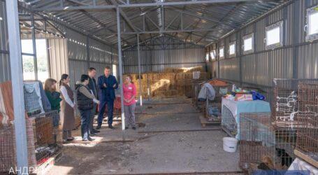 Міський голова Кам'янського відвідав притулок для безпритульних тварин